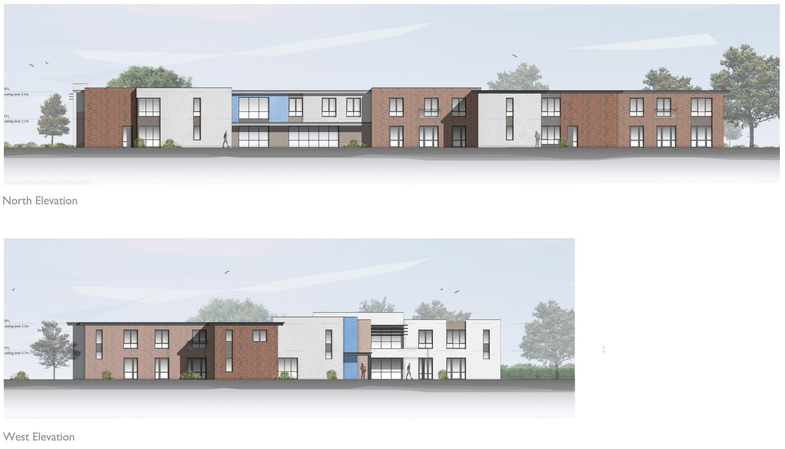 1526_F10_EL01_Proposed Elevations_Care Home_Rev A 29.05.19