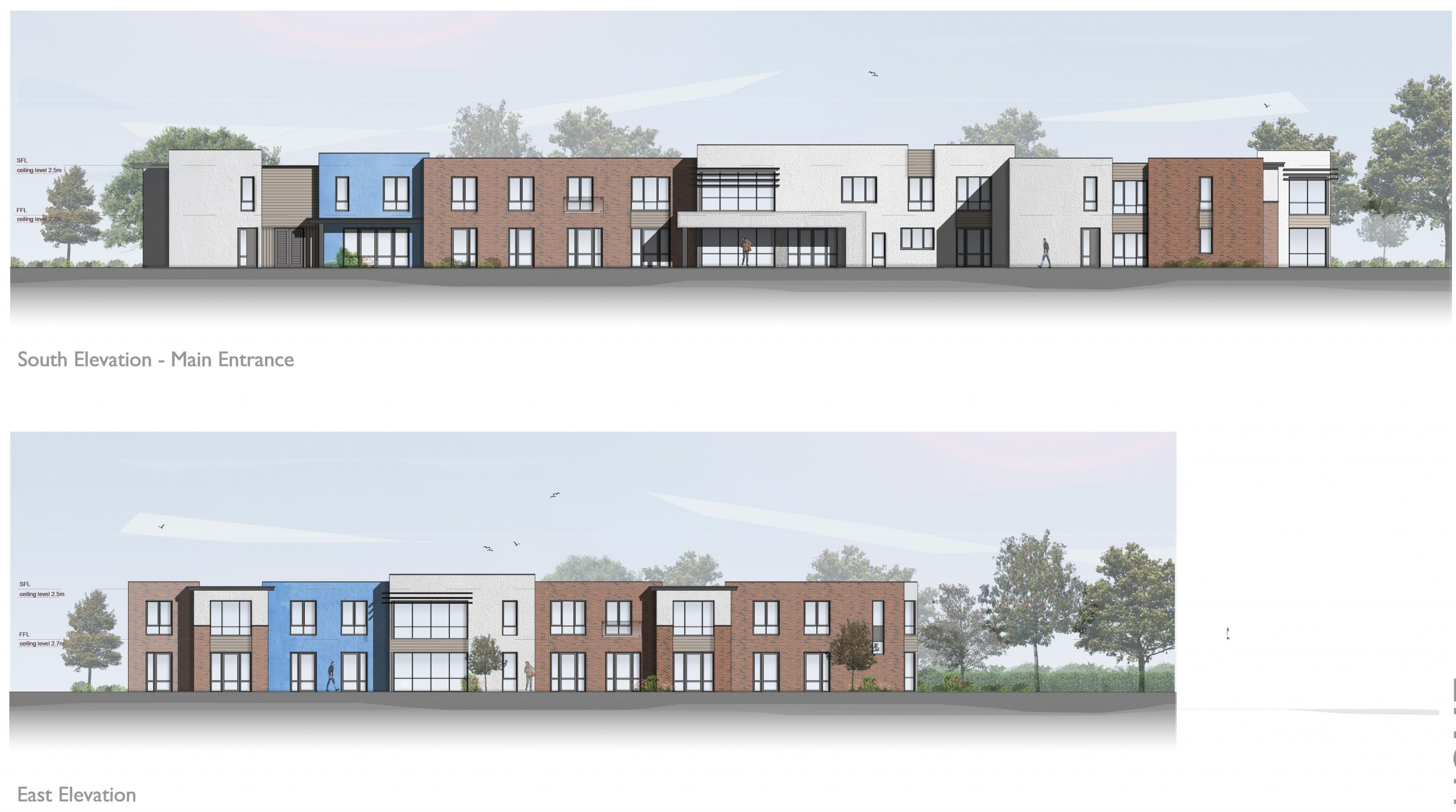 1526_F10_EL02_Proposed Elevations_Care Home_Rev B 29.05.19