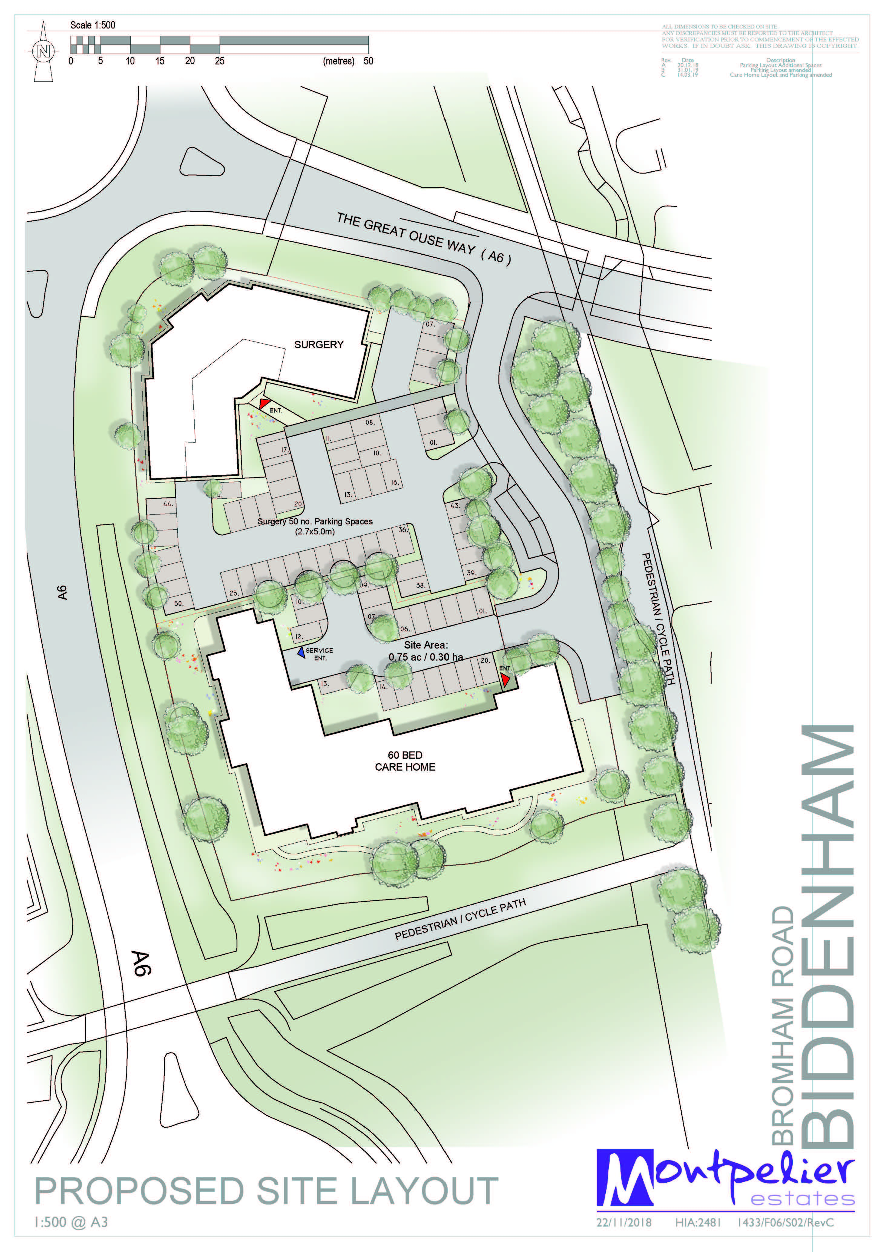 Biddenham Site Plan