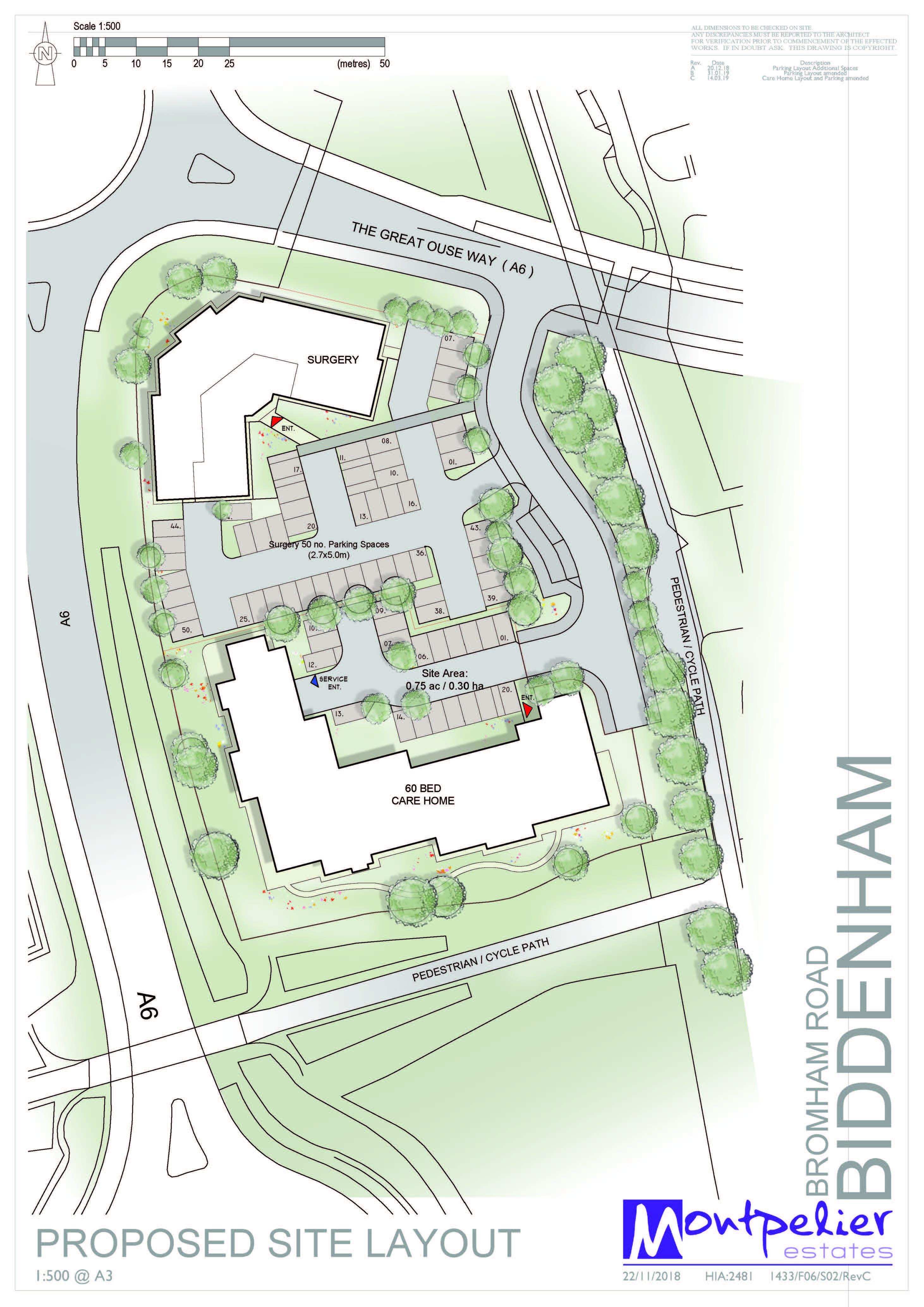 Biddenham Site Plan