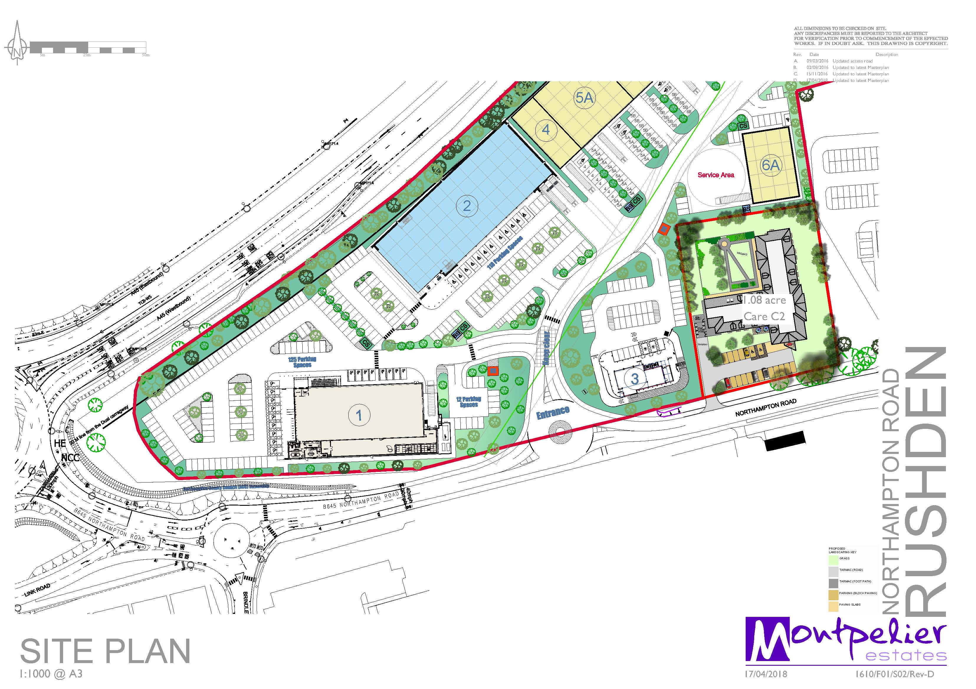 Rushden Site Plan